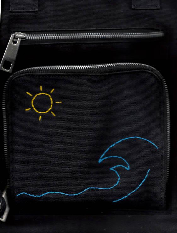 کیف دوشی با طرح دریا